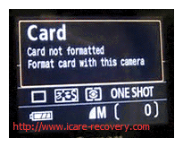 sd card format error