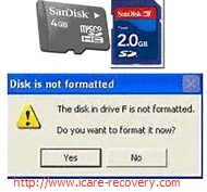 micro sd card not format