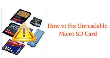 unreadable micro sd card recovery