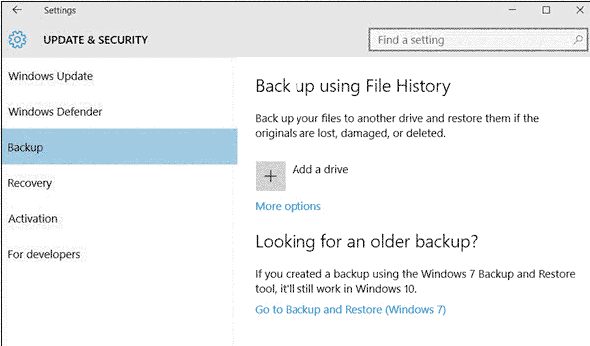 backup files for windows 10