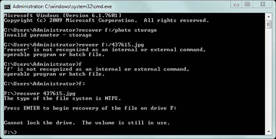 command prompt recover deleted files step 2