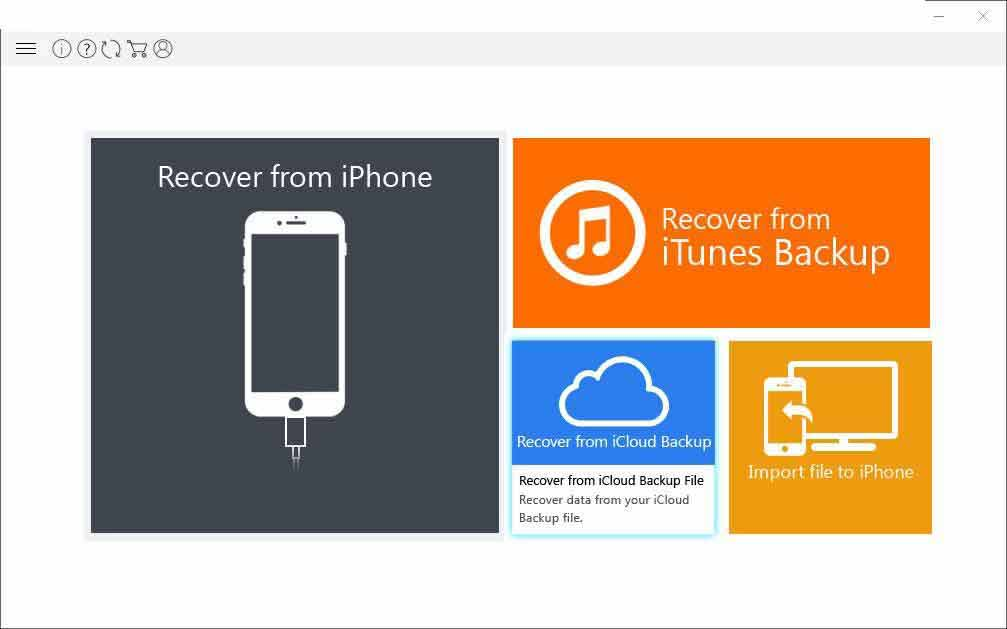 step1-recover permanently deleted video from iPhone