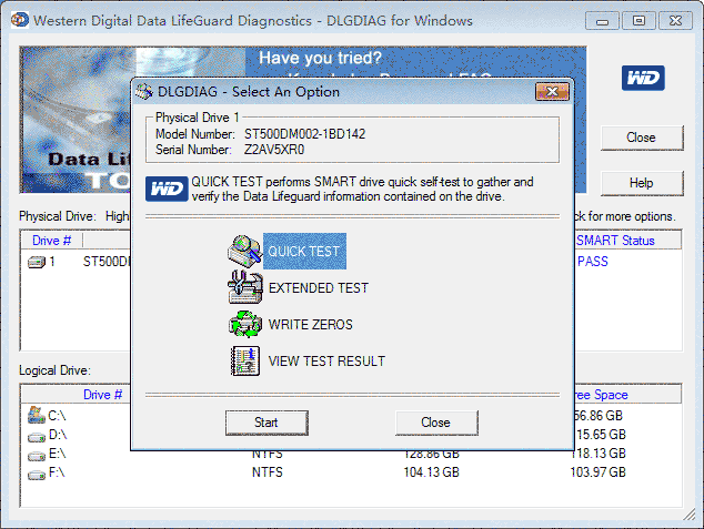 Western digital hard drive software tool