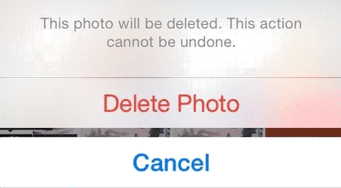 delete photos in recently deleted album