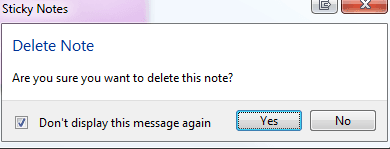 how to delete sticky notes on windows 10