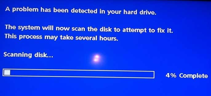 hard drive blue screen