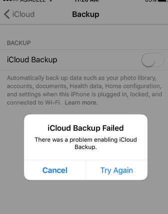 How to Fix the Last Backup Could Not Be Completed Error on iCloud