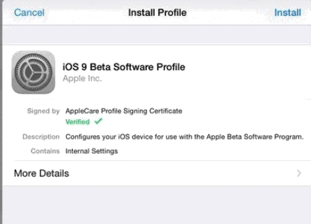ios 9 beta software profile