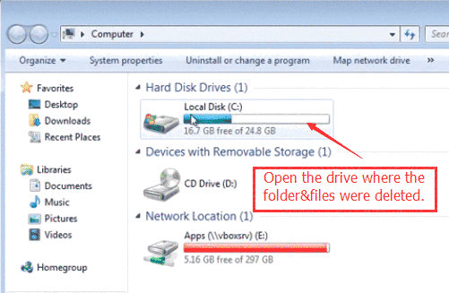 Free Windows 7 Recover Deleted Files from Hard Disk