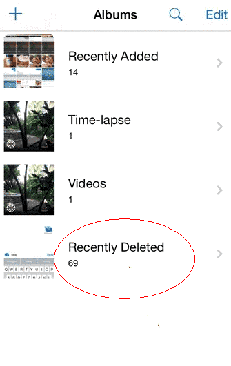recently deleted photos ios 8