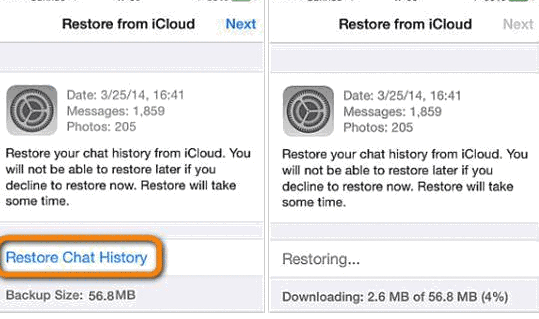 restore from icloud.