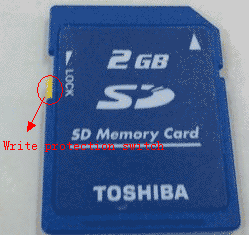 Remove sd card write protection