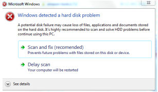 1b579e23 Windows Detected a Hard Disk Problem | Fix corrupted damaged hard ...