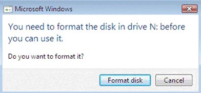 need to format disk drive windows 7