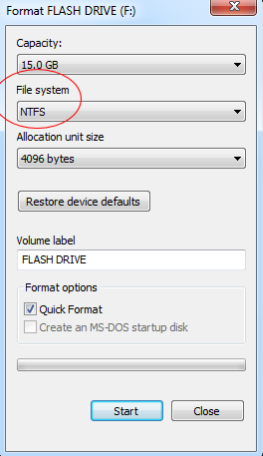 formatted flash drive by mistake