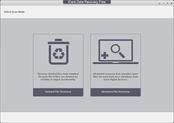 icare data recovery free main screenshot