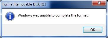 Windows can't format the sd card