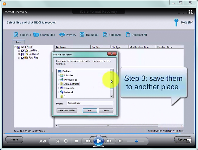 iCare Format Recovery Free - windows data recovery software